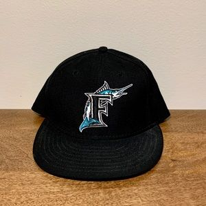 MLB. Retro Florida Marlins Fitted Hat. Size 7 3/4